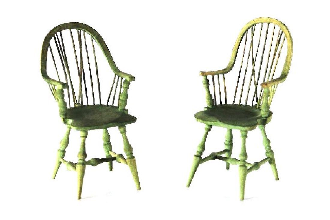 Pair of Nicole Marble Windsor Chairs Dollhouse