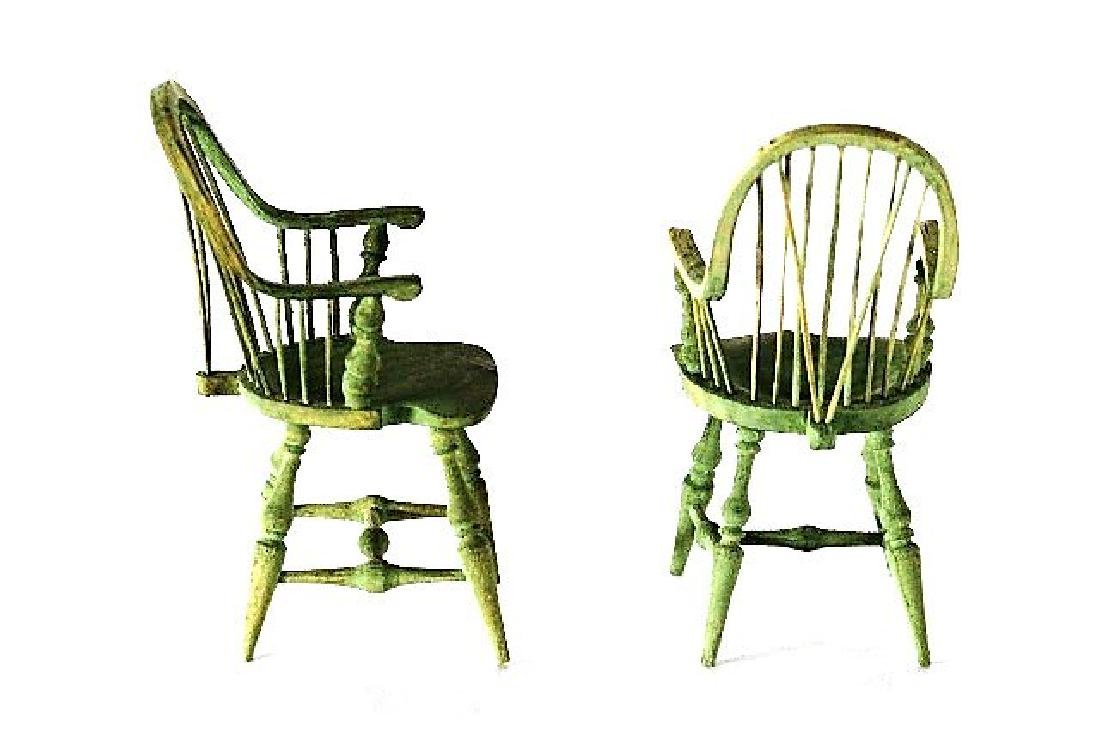 Pair of Nicole Marble Windsor Chairs Dollhouse - 2