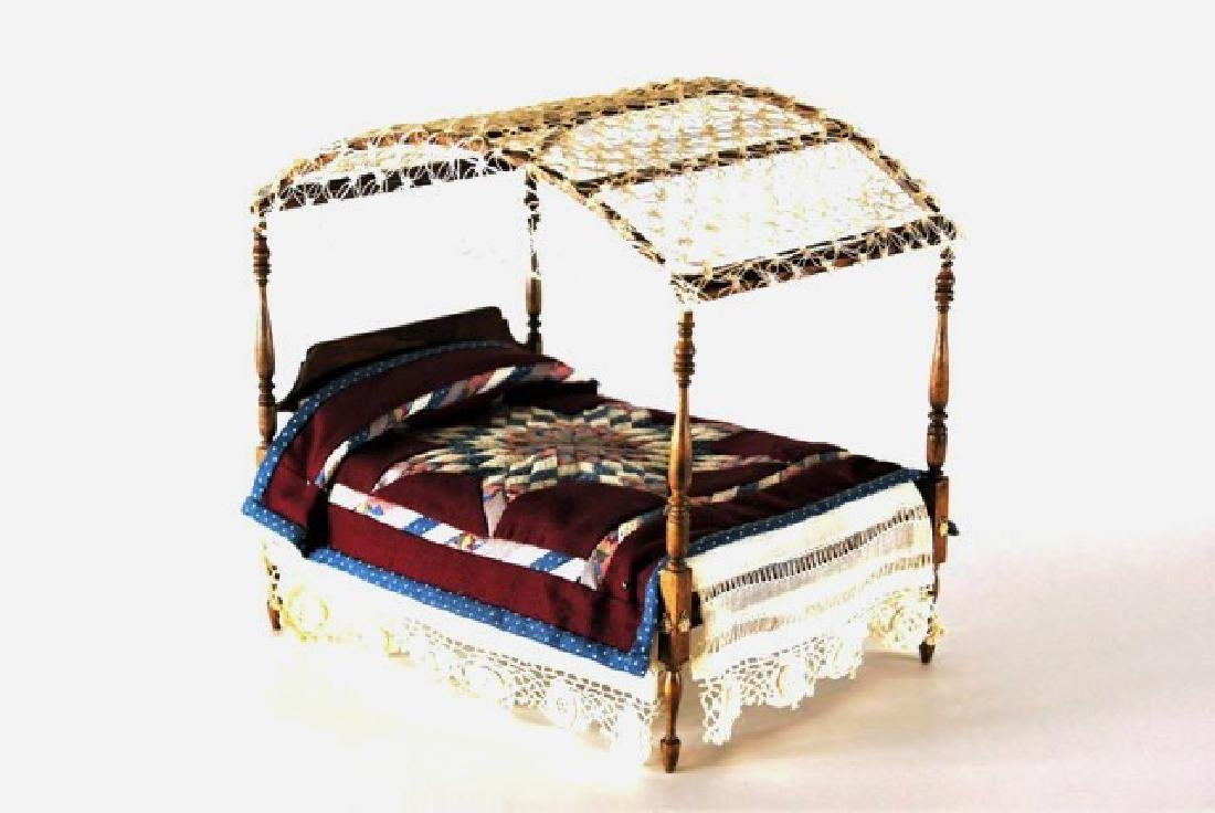 Roger Gutheil Bed with Quilt Dollhouse Miniature
