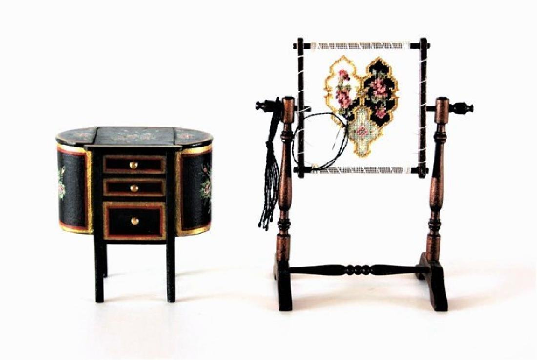 Mark Stockton Sewing Stand & Sewing Rack Dollhouse