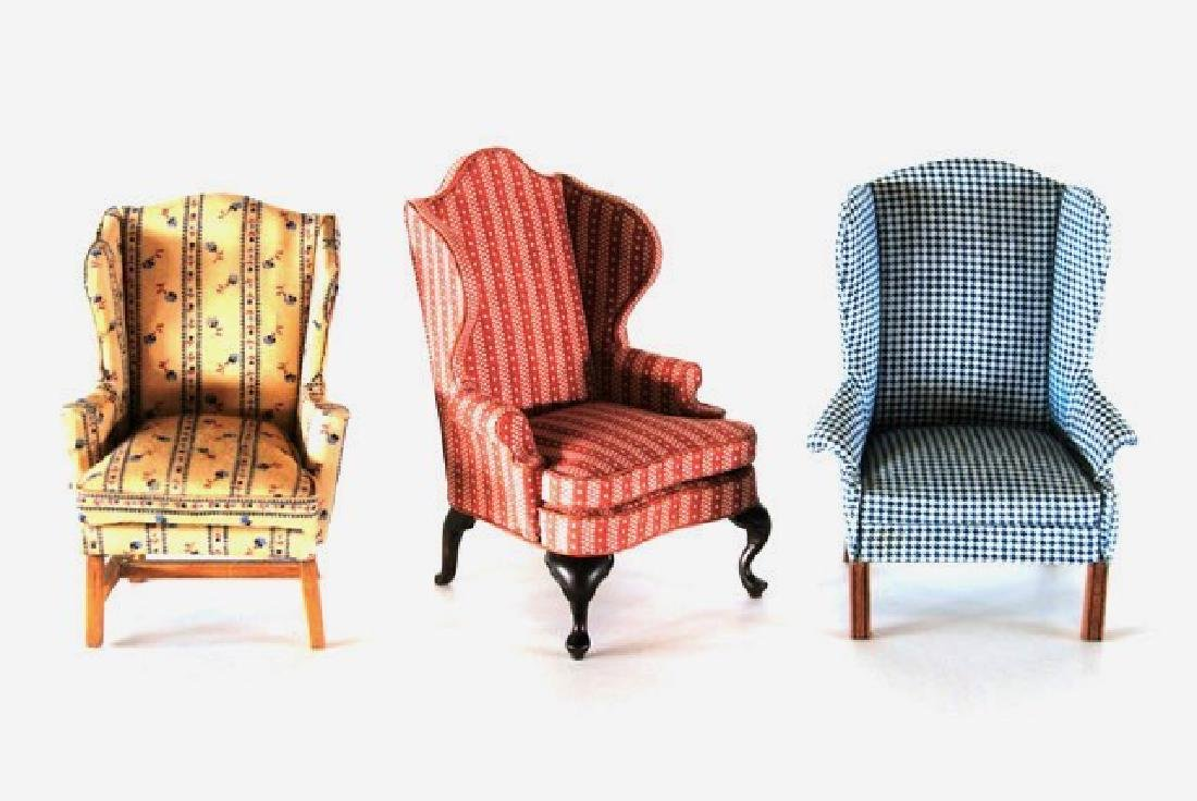 Charles Krug Wing Chair & Others Dollhouse Miniatures
