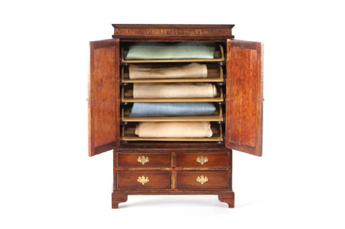 Dennis Jenvey Mahogany Clothes Press Dollhouse - 3
