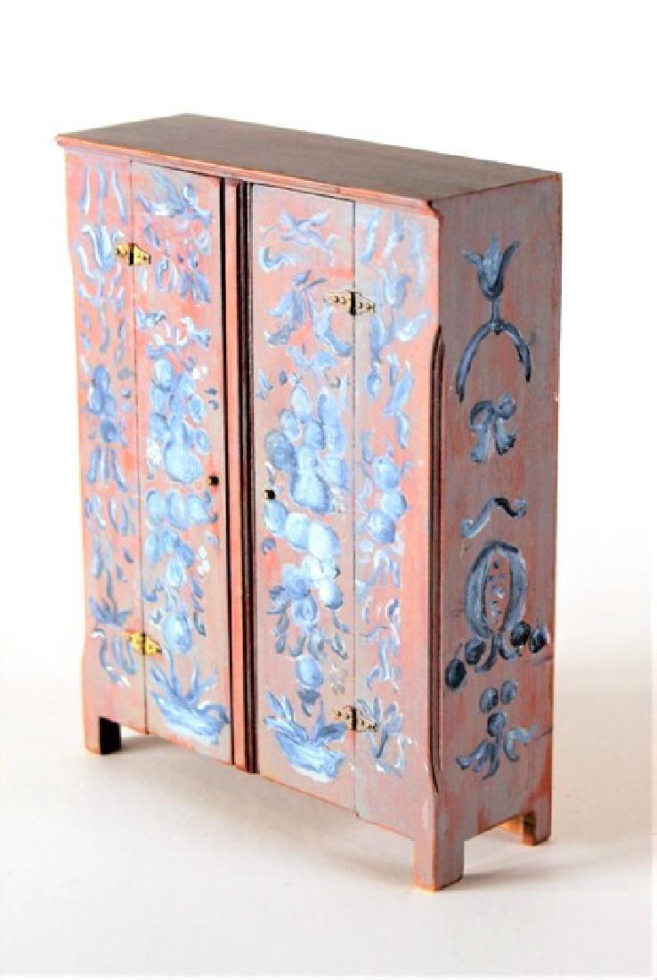 Roger Gutheil Painted Cupboard Dollhouse Miniature - 2