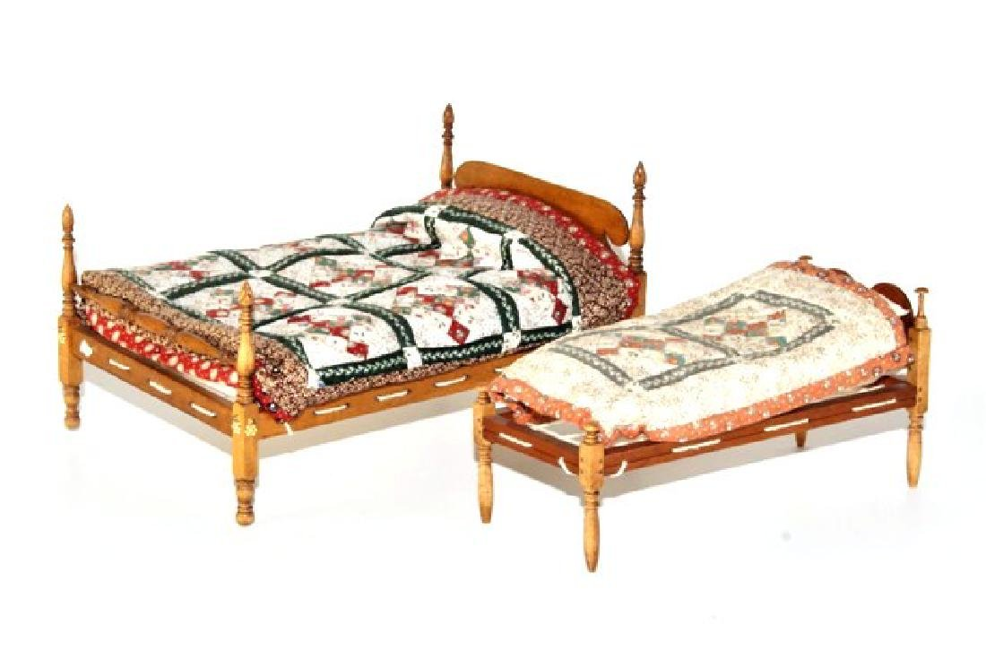 Roger Gutheil Beds With Quilts Dollhouse Miniatures