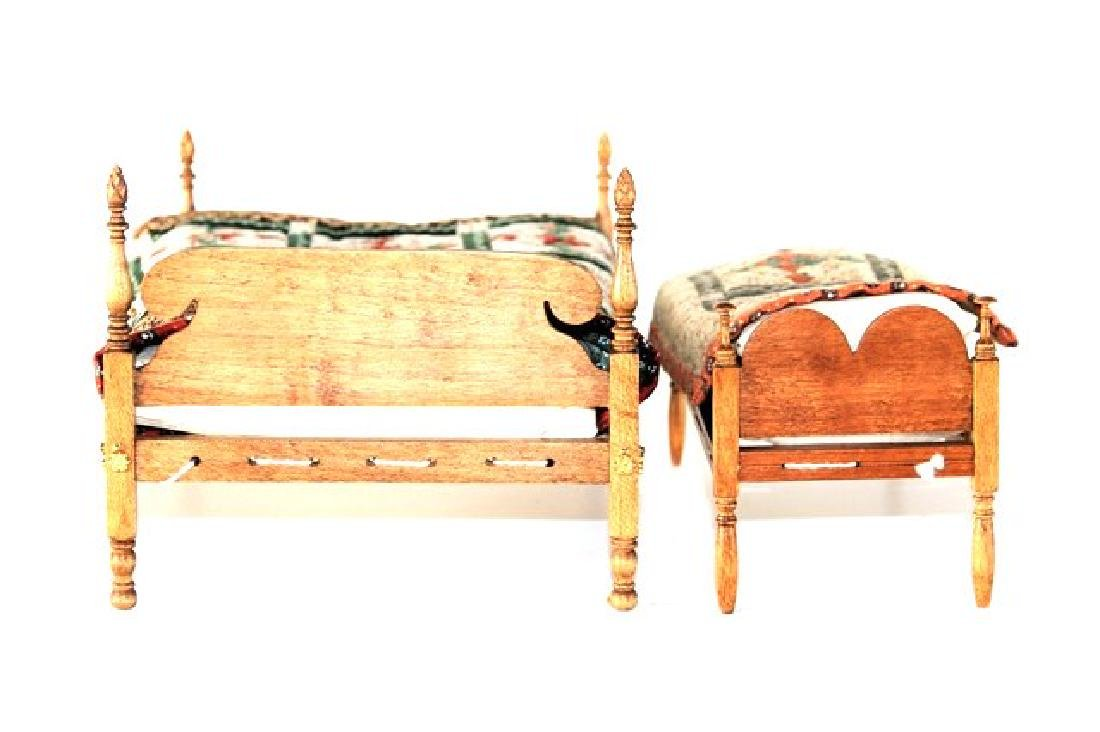 Roger Gutheil Beds With Quilts Dollhouse Miniatures - 2