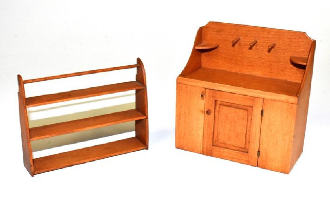 George Hoffman Dry sink & Shelf Dollhouse Miniatures