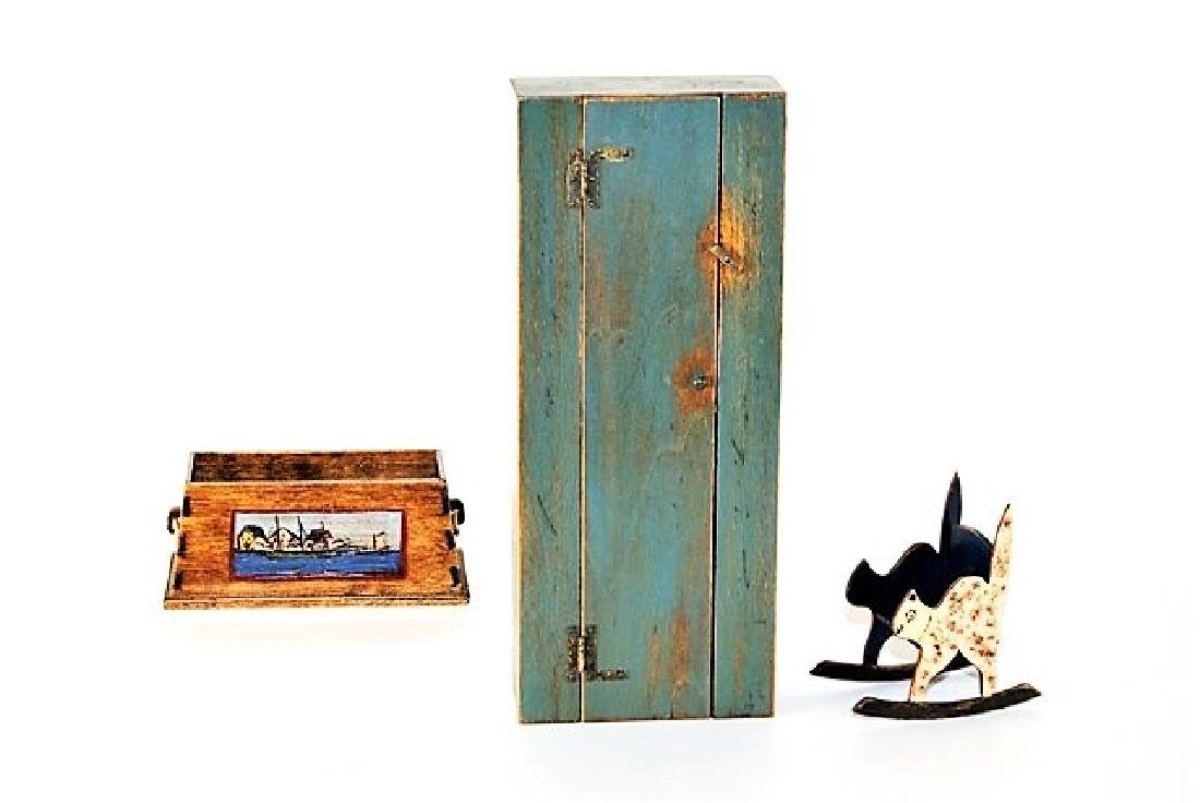 B. Davis Toybox, Rocker & Cabinet Dollhouse Miniatures