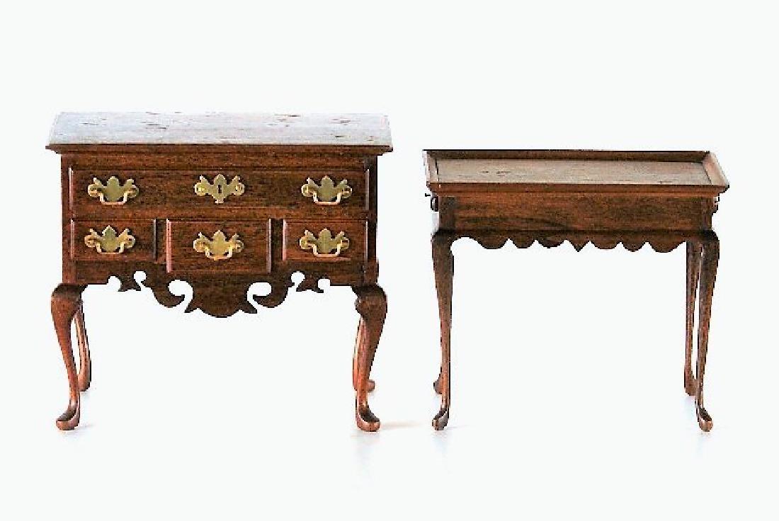 Roger Gutheil Lowboy & Tea Table Dollhouse Miniatures