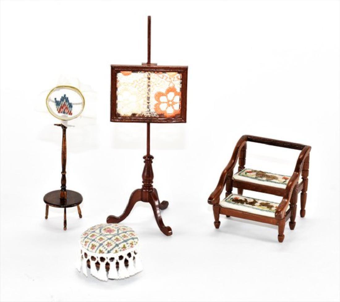 Artisan Embroidered Furniture Dollhouse Miniatures