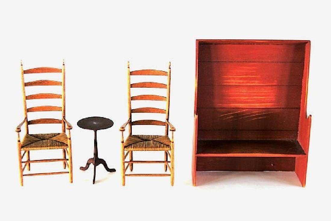 Jim Icon Shaker Chairs & Others Dollhouse Miniatures