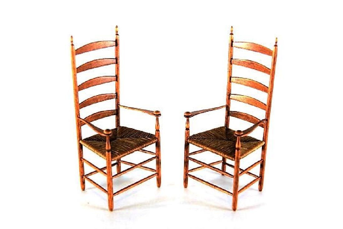 Jim Icon Shaker Chairs & Others Dollhouse Miniatures - 3