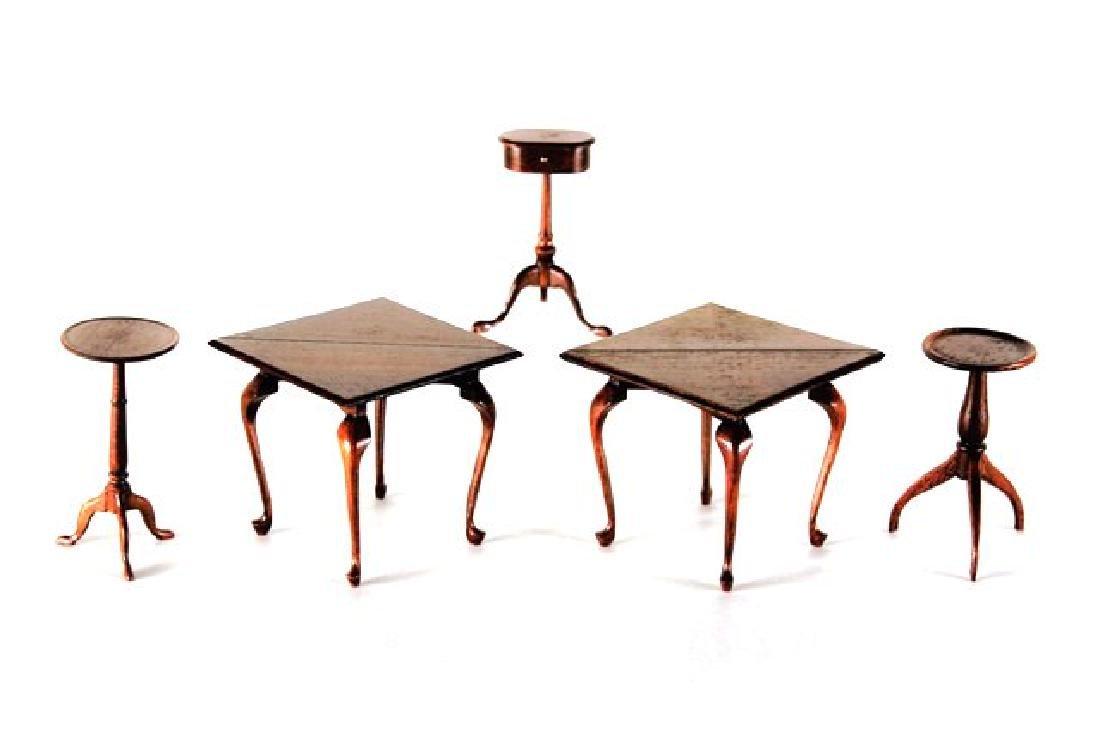 Five Edward Norton Tables Dollhouse Miniatures