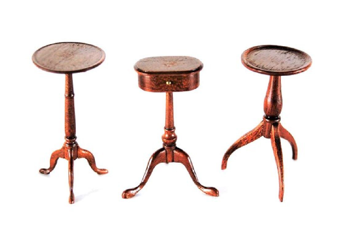 Five Edward Norton Tables Dollhouse Miniatures - 2
