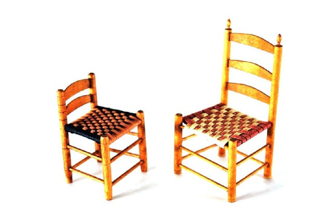George Hoffman Shaker Chairs & Table Dollhouse - 2