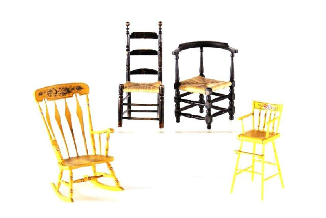 Jim Hillhouse Painted Highchair & Others Dollhouse