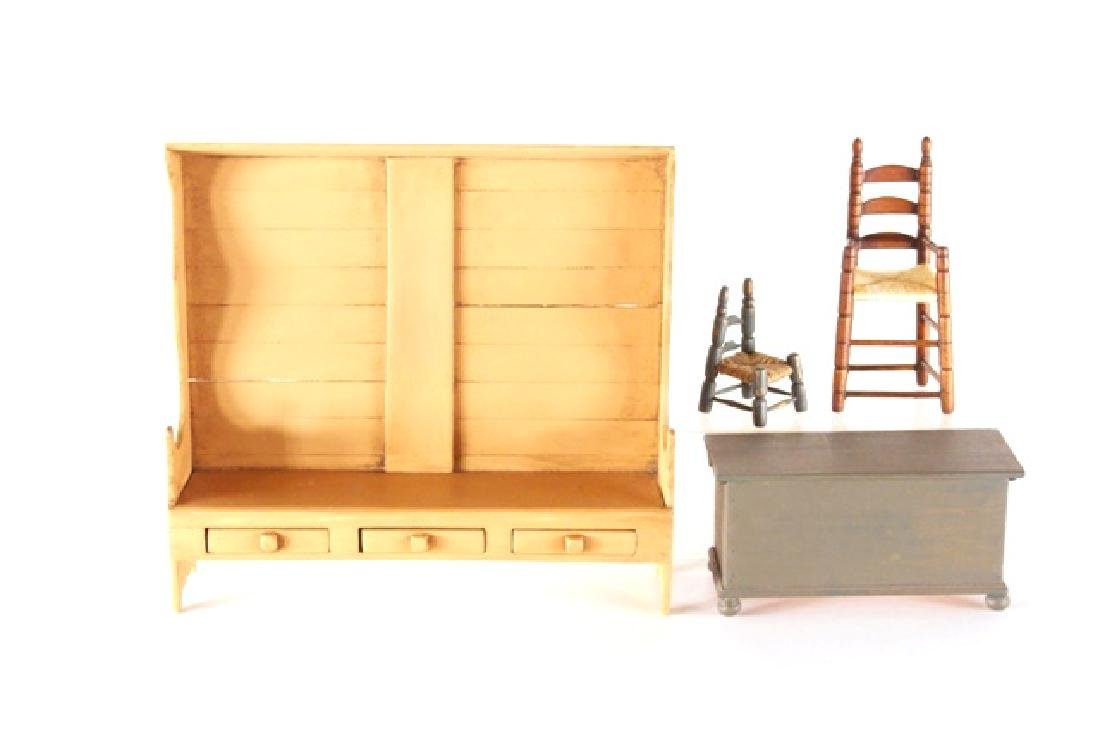 Hoffman Style Painted Country Furniture Dollhouse