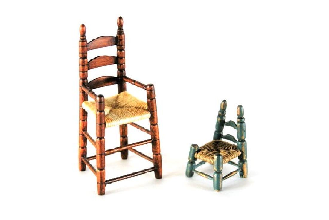 Hoffman Style Painted Country Furniture Dollhouse - 3