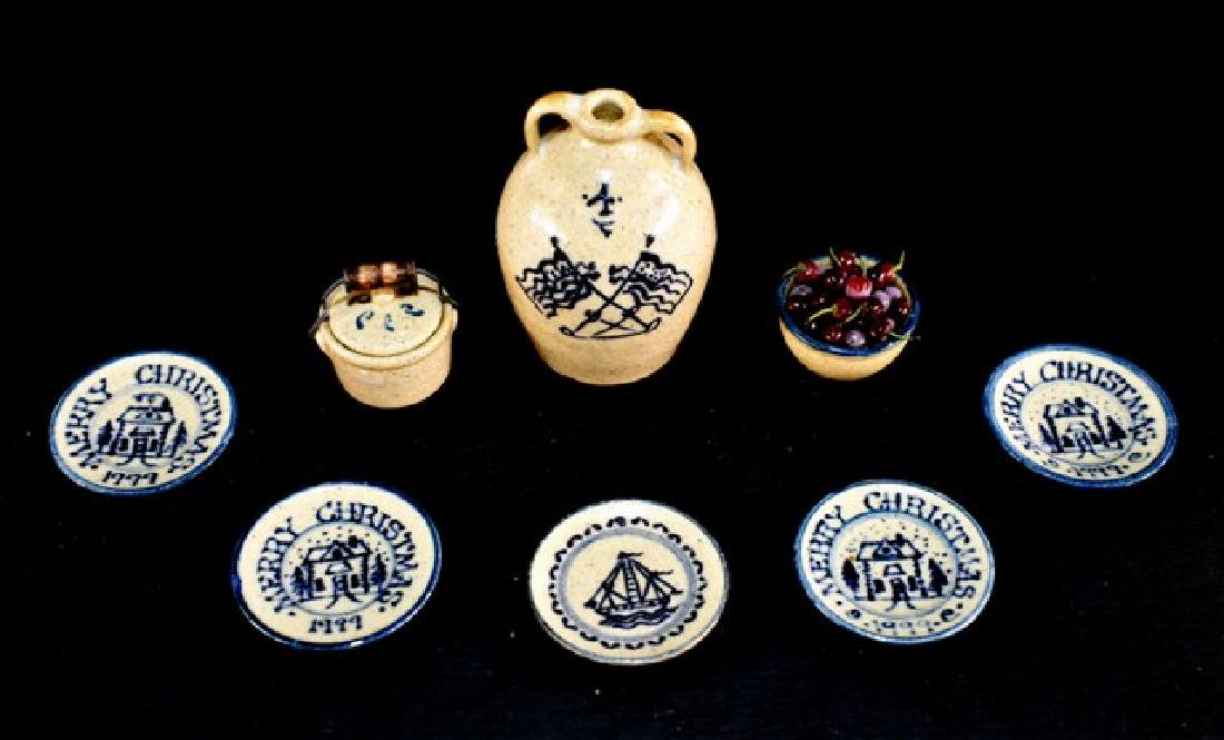 Jean Graber Decorated Stoneware Dollhouse Miniatures