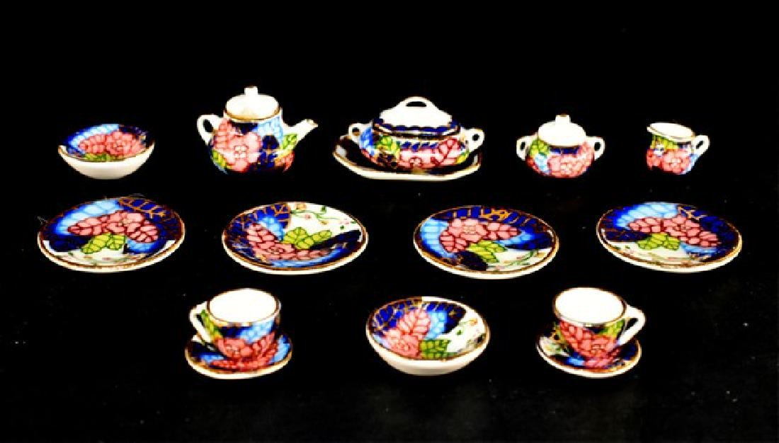 R.R. Tea & Lunch China Set Dollhouse Miniatures
