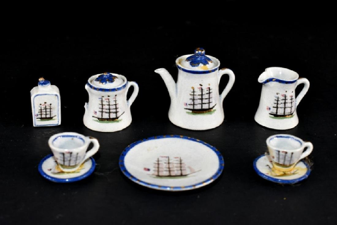 Deborah McKnight Clipper Ship Tea Set Dollhouse