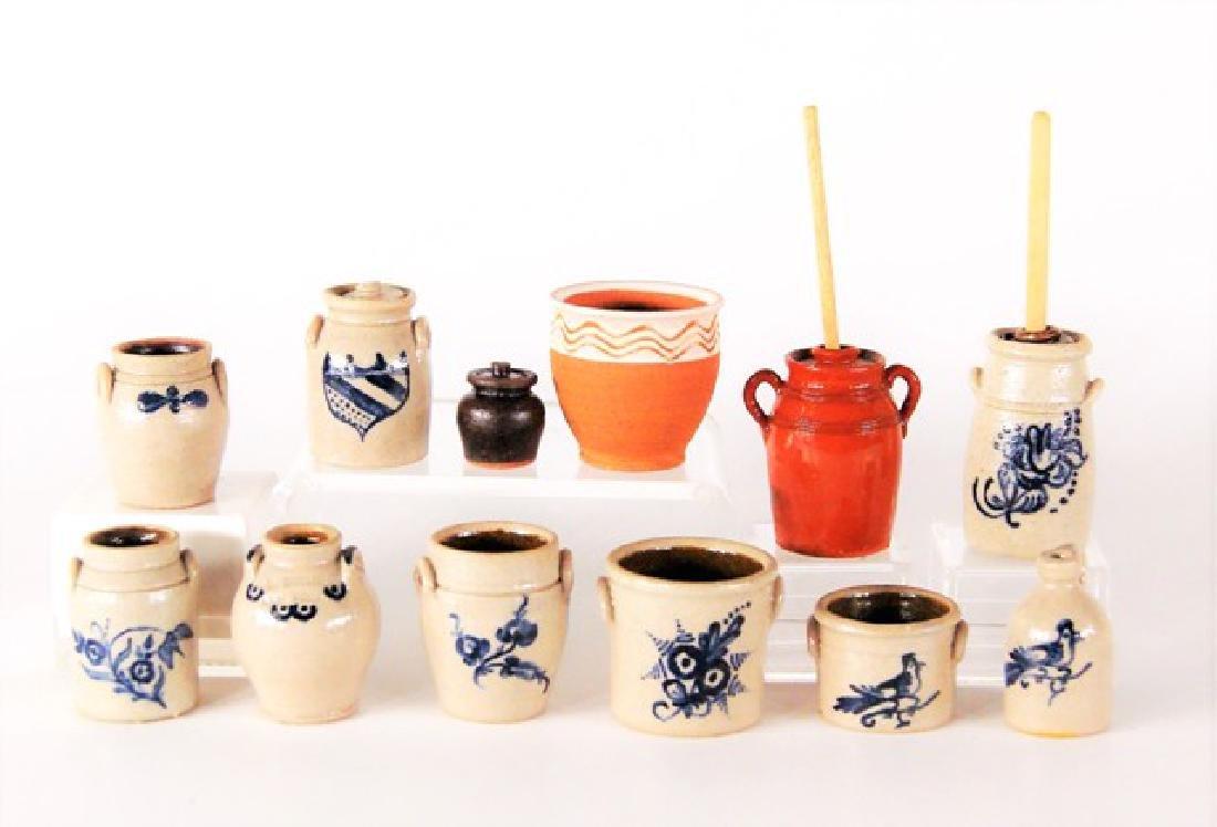 Carolyn Curran Decorated Stoneware Dollhouse Miniatures
