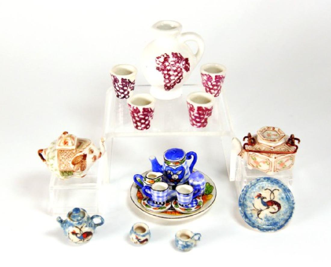 Dollhouse Miniature Tea Sets