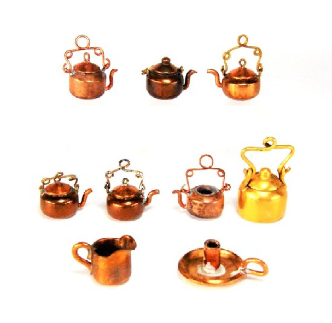 Copper Dollhouse Utensils Made From Pennies Miniatures