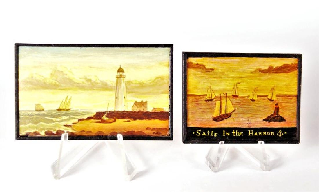 Paul Saltarelli Nautical Folk Art Paintings Miniatures