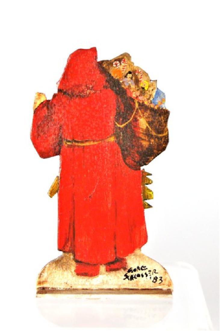 George Schlosser Santa Painting Dollhouse Miniature - 2