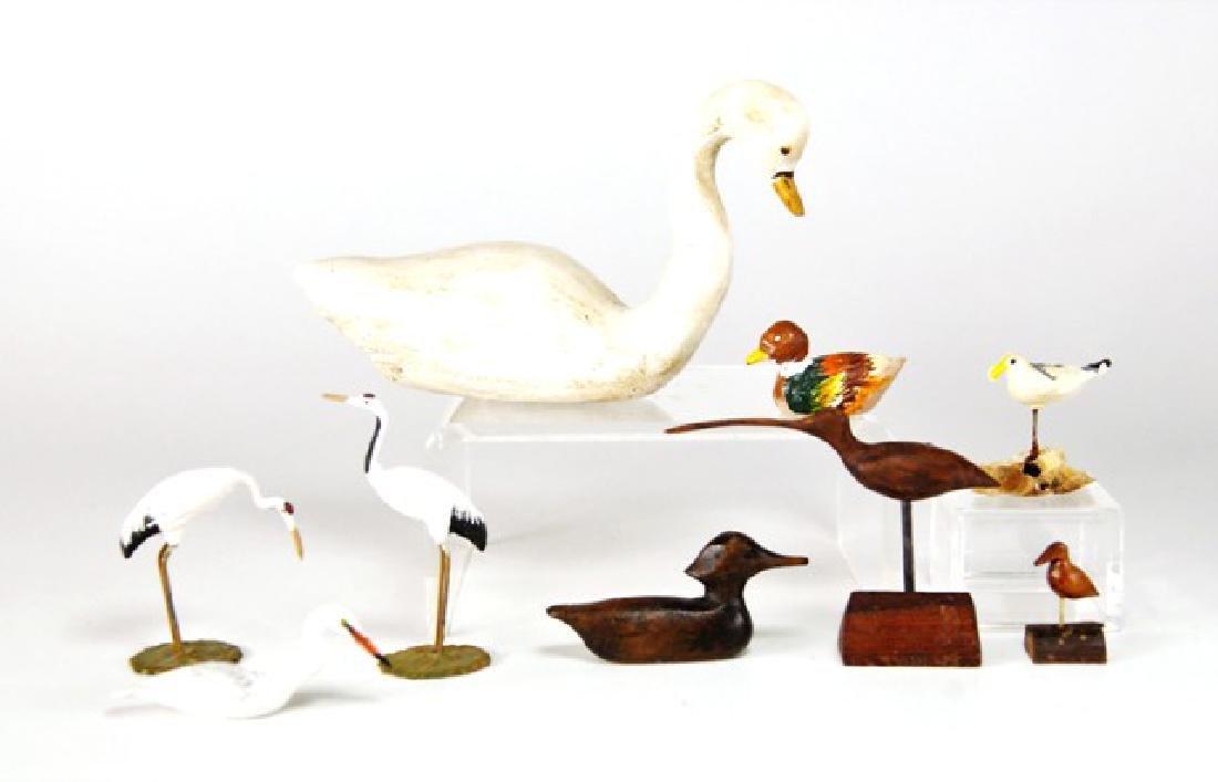 Group of Miniature Bird Decoys for Dollhouse