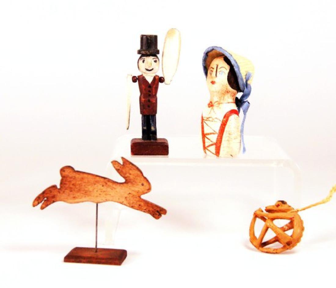 Artisan Folk Art Carvings for Dollhouse Miniatures