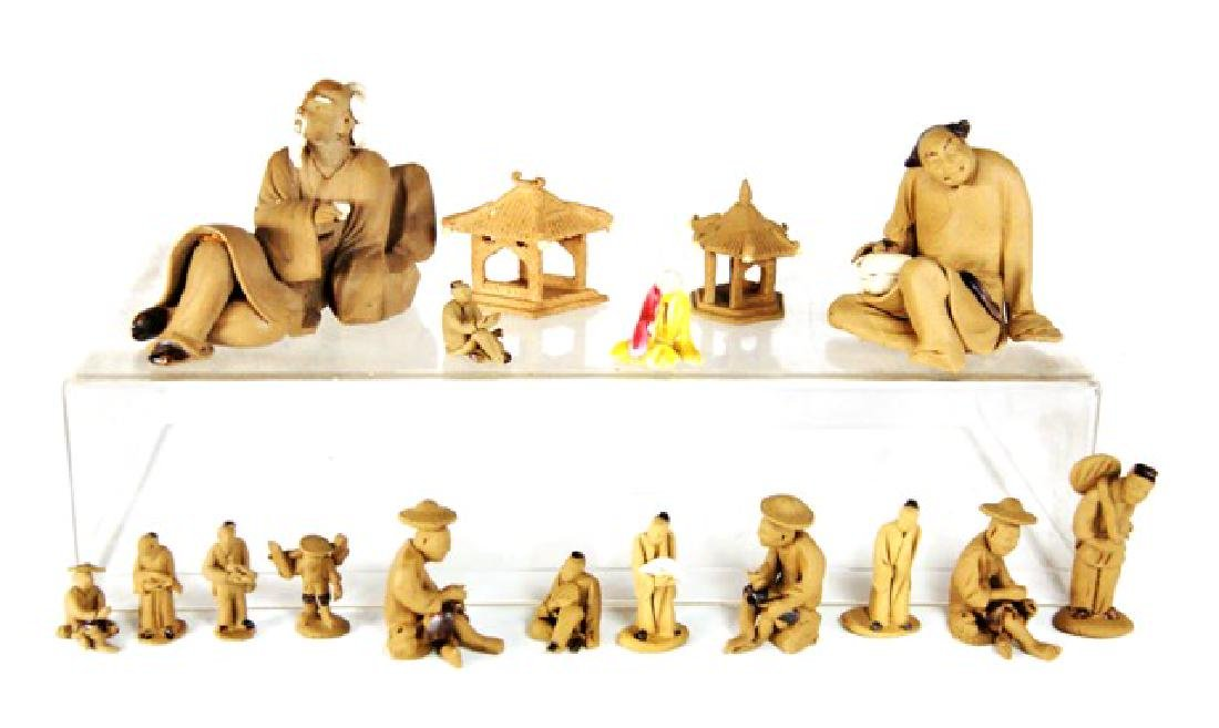 Collection of Chinese Mud men Dollhouse Miniatures