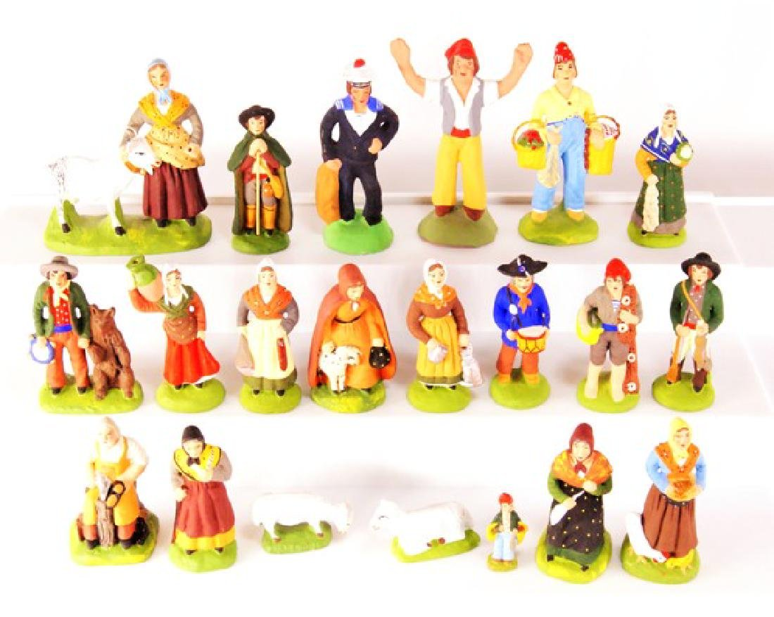 Marcel Carbone Clay Figures for Dollhouse Miniatures