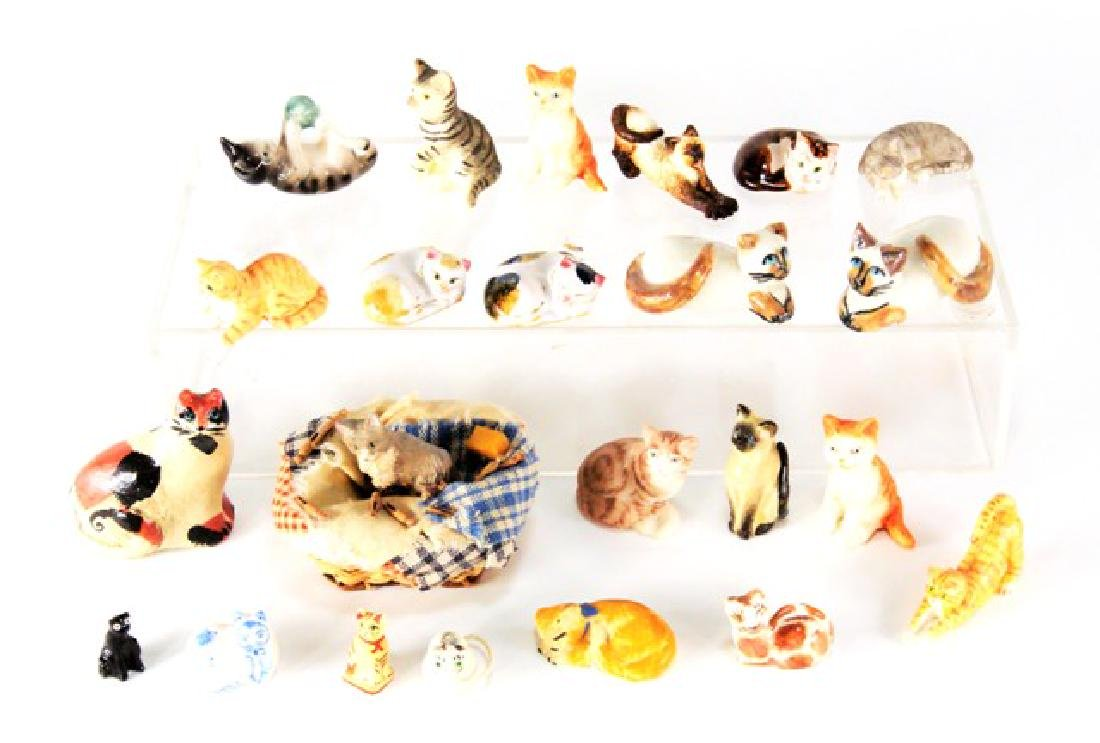 Artisan Miniature Cats for Dollhouse
