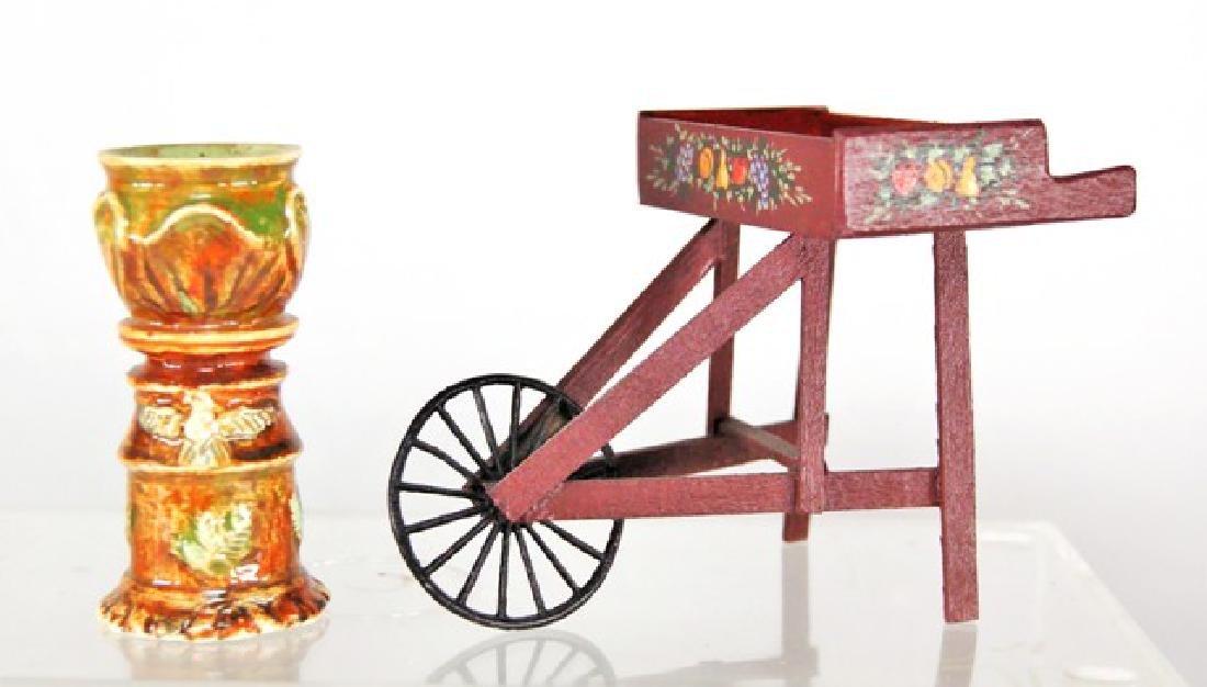 Jean Tag Jardinière & Bailey Cart for Dollhouse