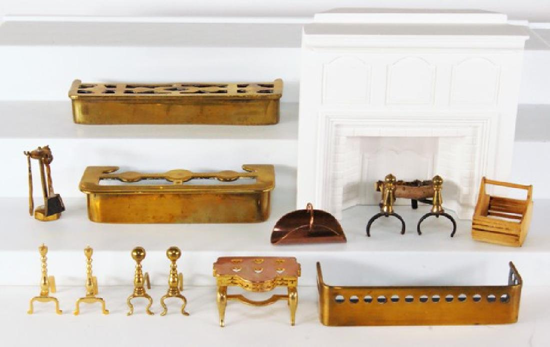 Dollhouse Fireplace & Accessories Miniatures