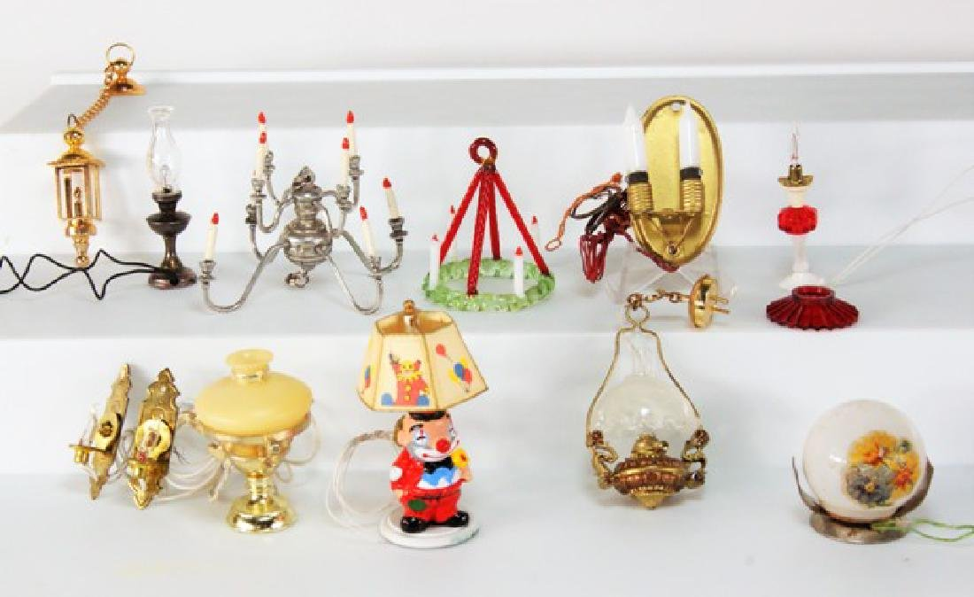 Group of Dollhouse Lighting Miniatures