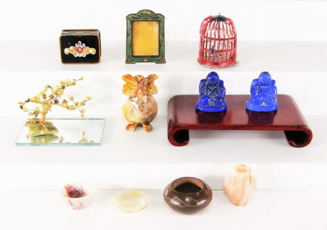 Unusual Stone, Glass and Metal Dollhouse Accessories