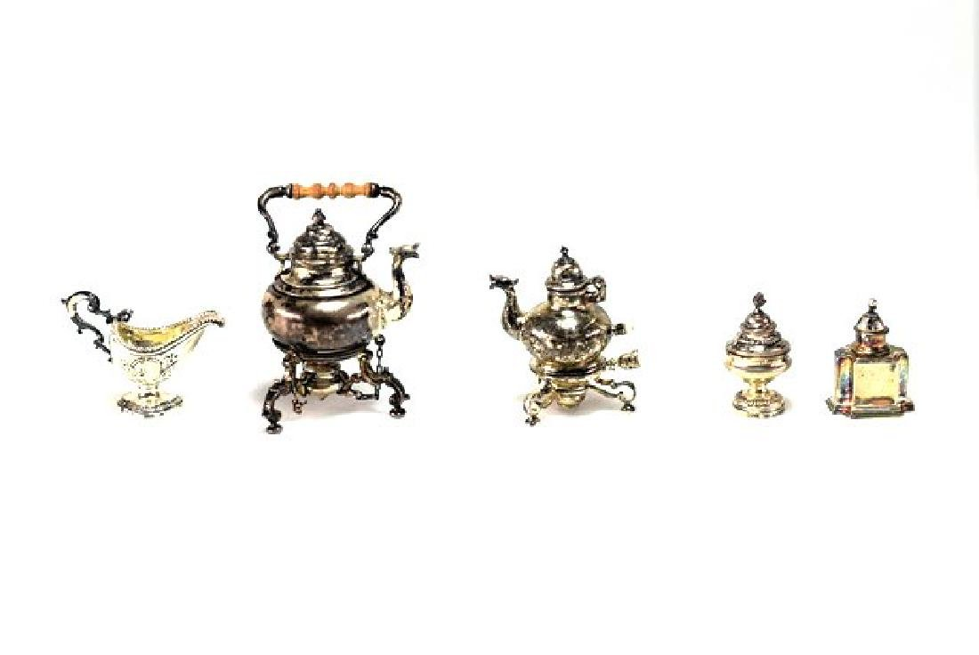 Obadiah Fisher Sterling Teapots & Accessories for