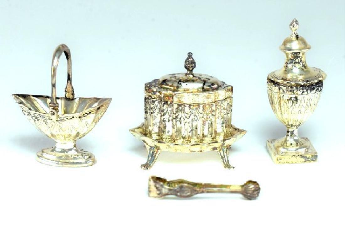 Obadiah Fisher Sterling Tea Equipment for Dollhouse