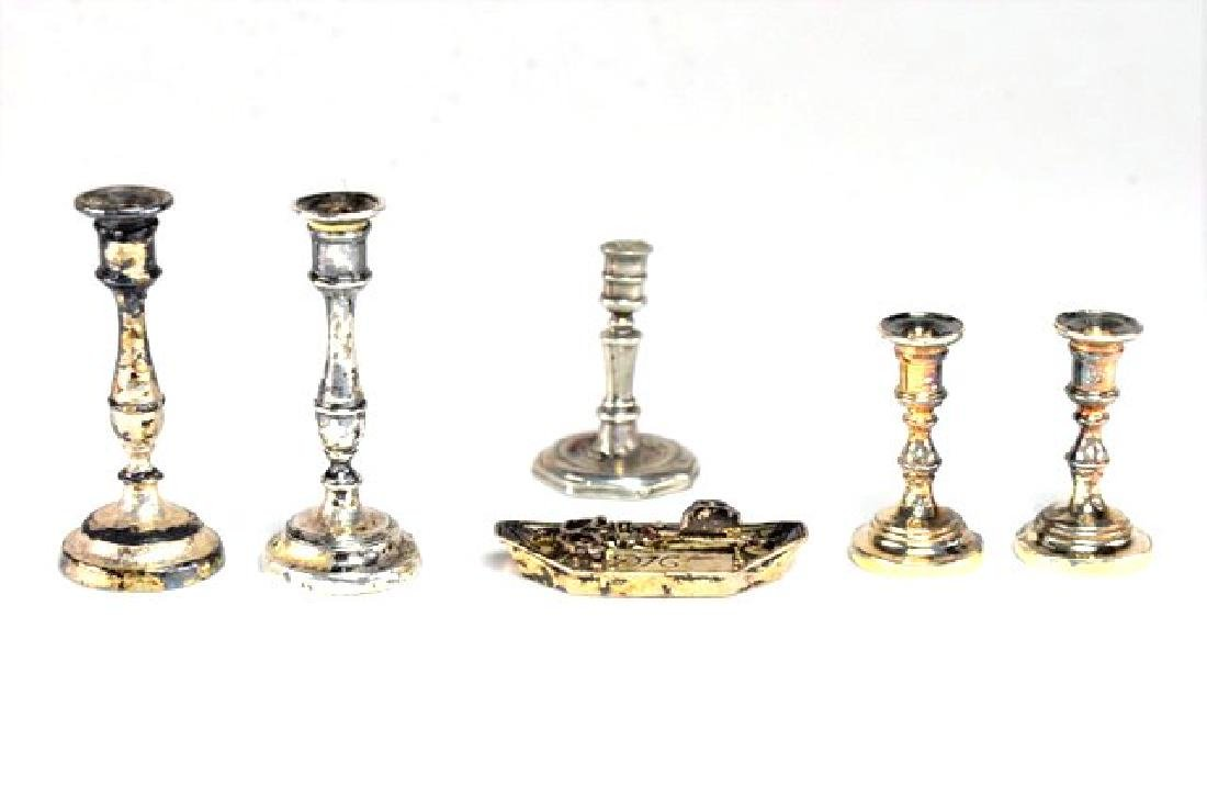 Fisher & Kupjack Sterling Candlesticks for Dollhouse