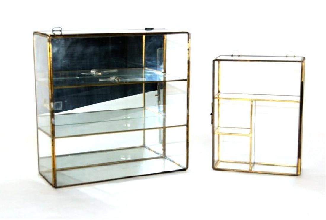 Two Small Glass Display Cases