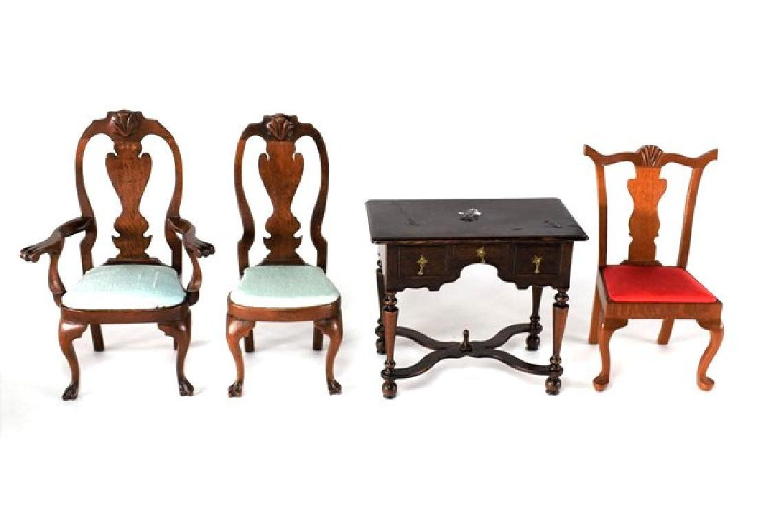 George Passwaters Chairs & Dressing Table for Dollhouse