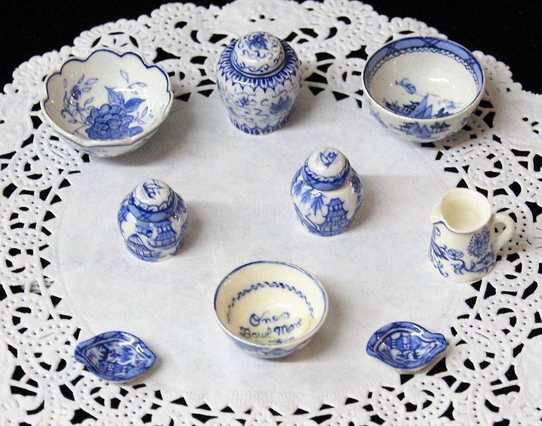 Deborah McKnight Blue & White Pottery for Dollhouse - 4