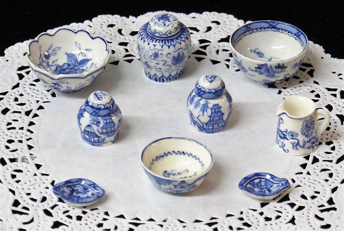 Deborah McKnight Blue & White Pottery for Dollhouse - 5