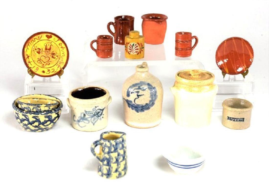 McKnight & Curran Dollhouse Pottery Miniatures