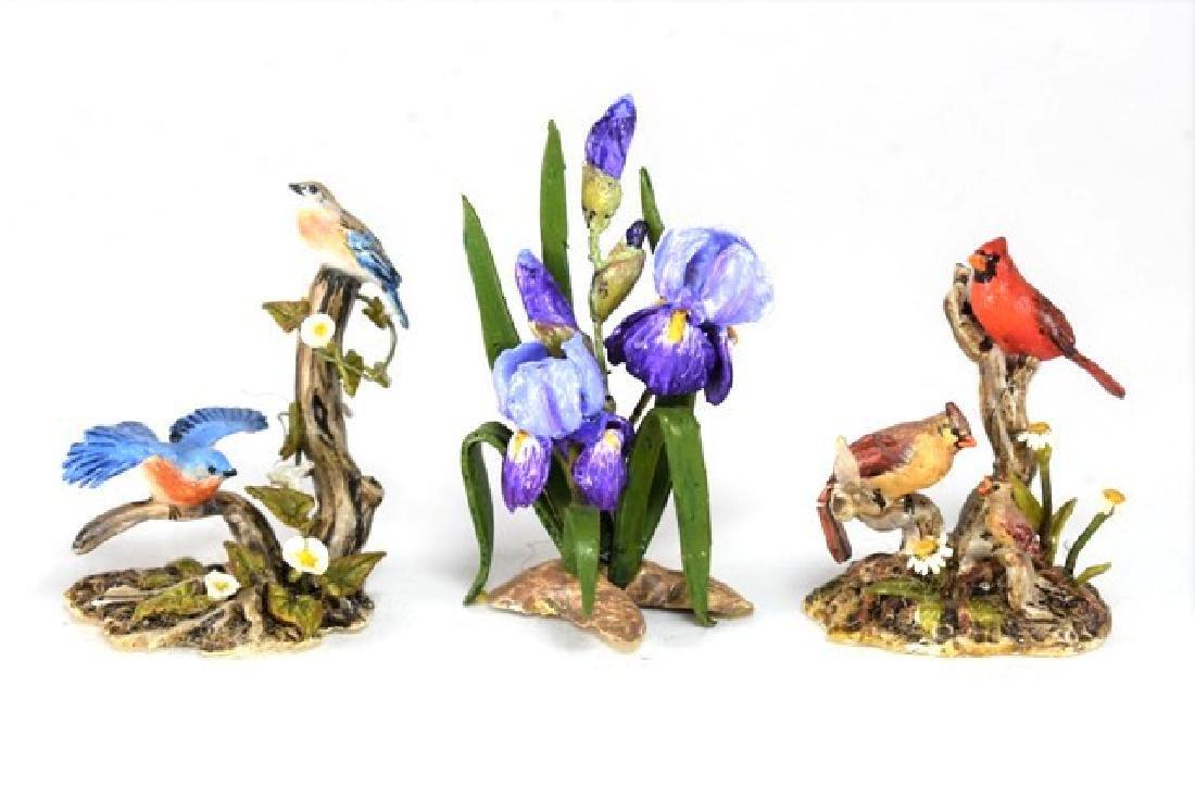 Mary McGrath Figural Birds & Flowers for Dollhouse