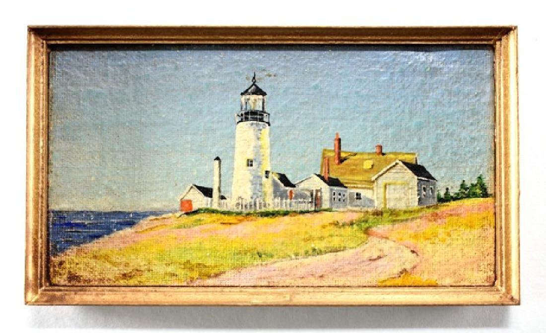 George Schlosser Lighthouse Painting for Dollhouse