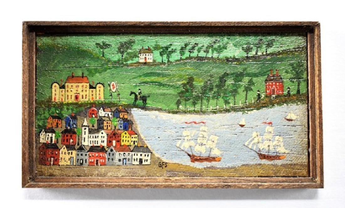 George Schlosser Harbor Painting for Dollhouse