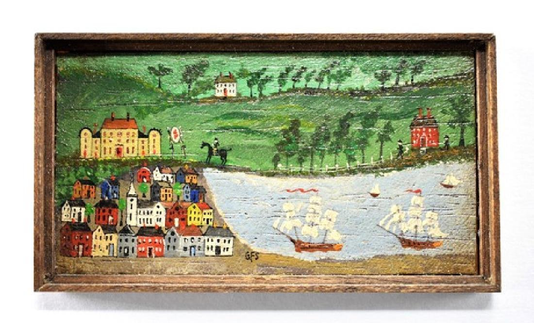 George Schlosser Harbor Painting for Dollhouse